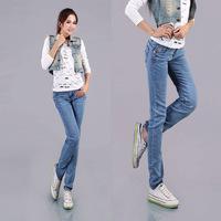 #1358 New 2014 fashion high quality women lady girls denim jeans spring slim full length pencil pants
