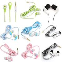 6 Colors 3.5mm In-ear Earbud Headphone Earphone Headset for MP3 MP4 Music Player Game PSP Sport Cell Phone