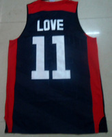 Free Shipping to all country!!#11 Kevin Love 2012 USA basketball jersey ,Embroidered Logo(all name number stitched!!)