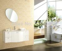 High Quality Pure White Oak Wood Bathroom Vanity (X-043)