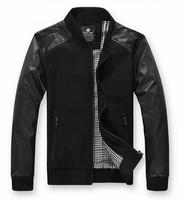 free shipping Leather Jacket 2014 Men Jaqueta Couro Faux Genuine Leather Jackets Men Summer Slim Motorcycle Jacket Man Coat 66