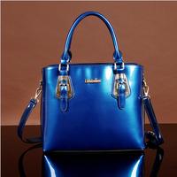 New 2014 women messenger bag New fashion women leather handbags vintage leather handbags for women woven paint aslant female bag