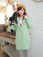2014 hot sale free shipping  causal loose women woolen coats