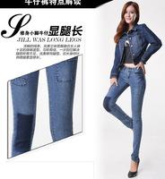 #A5102 New 2014 fashion high quality women lady girls denim jeans spring slim full length pencil pants