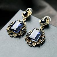 2014 Dark Blue Geometric Drop Earring Design Earring Accessories Jewelry Free Shipping (Min $20 can mix)
