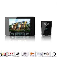 "7"" Wireless Video Door Phone Intercom Doorbell Camera 2.4G free shipping UK 3 Pins Plug"