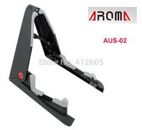 Aroma AUS-02 Tiny Floor Plastic Stand Shelf Foldable - Ukulele Violin Mandolin Uke Viola Smaller Instrument Brand