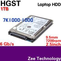 "HGST 7K1000-1000 2.5"" HDD SATA 1TB 9.5mm Hard Disk Drive for laptop SATA3 6Gb/s 7200rpm 3 year warranty"