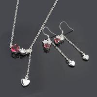 Wholsale new FASHION jewelry  925 Sterling Silver earrings necklace set Penoyjewelry LKNSPCS665