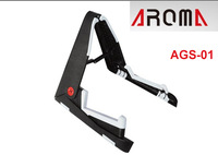 Aroma AGS-01 Stand for all sizes guitars including classic, folk, jazz and electric guitars and bass / Free shipping