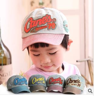 Retail 2015 Fashion Embroidery Children Baseball Caps, Baby Boys Girl Denim Baseball Cap,Kids Summer Mesh Sun Hat Free Shipping(China (Mainland))