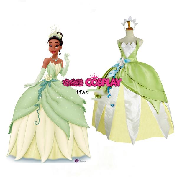 Vestido De La Princesa Tiana Para Niñas - Compra lotes baratos de ...