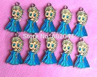 Free shipping  New Lot 100 pcs cute Elsa Metal Charms DIY Jewellery