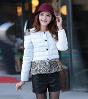 free shipping casual women's down jackwt , 2014 korean style women down parka coat jacket 49