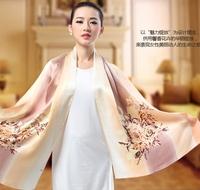 Fashion Woman 100% Silk Scarf Girl's Shawl Wrap Stole Lady Neckerchief S05042