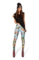 2014 New Autumn Winter Woman Leggings Bird Print Fashion Perneiras atacado roupas femininas  Casual Legging Pants SA14-93