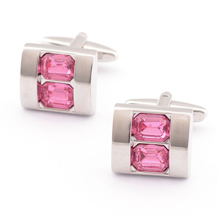 Promotion !!! Popular Pink Crystal Shell Shirt Cuff Link cufflinks high quality wedding men's accessories gifts for men(China (Mainland))