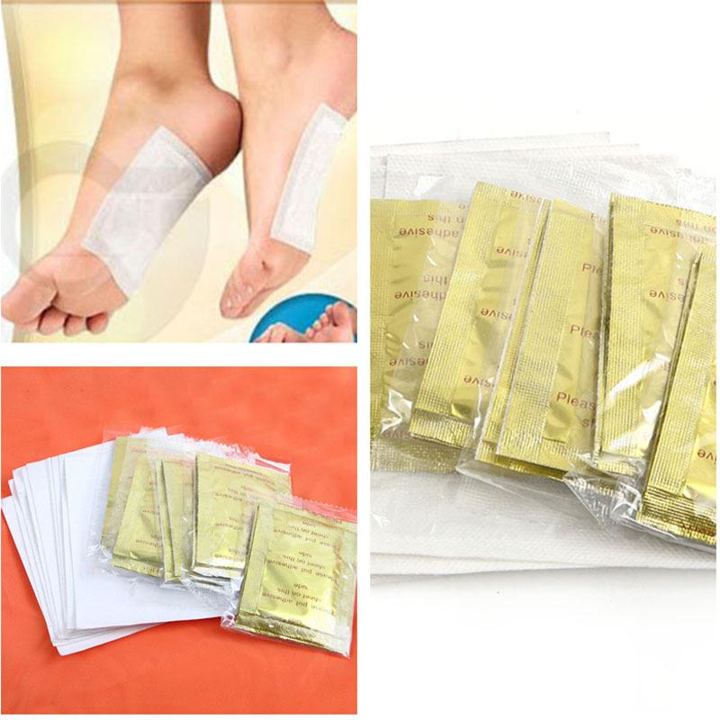 10 PCS GOLD Premium Kinoki Detox Foot Pads Organic Herbal Cleansing Patches Free Shipping #M01024(China (Mainland))