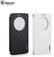 For LG G3 Baseus Brocade Case Series Stand Protective Leather Case For LG G3 Windows Flip Cover Leather Case Free Shipping