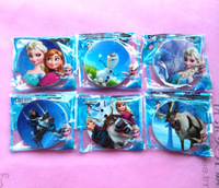 Free shipping New Sale 2 box 60pcs  The stationery school supplies prize rubber Frozen erasers