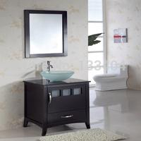 New Modern Bathroom Vanity with Single Glass Basin WJB-019