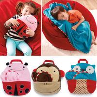 Owl Children's Zoo velvet pillow blanket multifunction is / blanket travel bag combo  wholesale