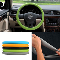 """Color Soft Silicon Skidproof Odorless Universal Steering Wheel Cover fit for 15"""" (38CM) steering wheel dropshipping 1pcs/lot"""