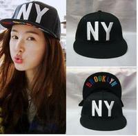 Free Shipping Fashion spring and summer men baseball cap flat-brimmed hat cap NY hip-hop hip-hop hat Korean wave#  5743