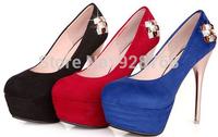Free Shipping 2014 New Sapatos Femininos Women's Pumps Red Bottom Sexy High Heel Wedding Platforms Shoes drop shipping