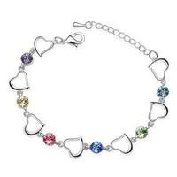 New Fashion Women Jewelry Colorful Crystal Bracelet Silver Bracelets Women's Bracelets Sterling Silver ML-623