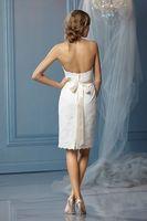 2014 High Quality White ivory Wedding Dress Sweetheart Sheath Open back Modern Fashion  Graceful Bridal Gown