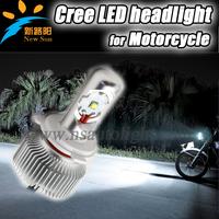 Free shipping II generation cree led motorcycle lamp motor headlight with driver&fan hi beam 20w lo beam 8w strobe light bulb