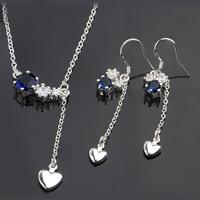 Wholsale new FASHION jewelry  925 Sterling Silver earrings necklace set Penoyjewelry LKNSPCS669