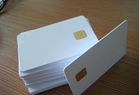 Free Shipping(10 pcs) White 4442 Chip PVC Contact Smart RFID IC Card (0.8* 85.5 * 54mm)