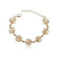 2014 Fashion Gold Bracelets Rose Gold Bracelets Bangles Crystal Silver Bracelets Bangles for Women ML-703