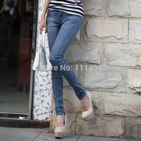2014 good quality e women jeans fashion denim pencil pants skinny trousers middle csize 26-31#