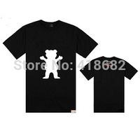2014 Mens hip hop GRIZZLY GRIP t shirt Short Sleeve dolphin T-Shirt men retail/wholesale diamond supply shirt