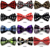 Free Shipping dot bow tie plaid bow tie male women's general Mens Unique Tuxedo Bowtie Bow Tie Necktie#  5744