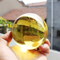 ASIAN QUARTZ yellow Crystal Ball Sphere 60mm AAA Fashion jewelry