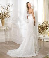 2014 High Quality White ivory Wedding Dress V Neck ChiffoCn Rhinestone Modern Fashion  Graceful Bridal Gown
