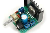 15W+15W TDA7297 Rev B dual Channel Amplifier Board AC/DC 12V No noise High Power Free shipping