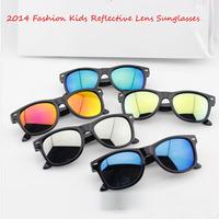 Hot Sale,5pcs/lot!New2014Fashion UV400 Kid's Silver Green Blue Orange Reflective Lens Sunglasses baby cool eyewear20pcs/lot .