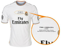 2014 UEFA Champions League Real Madrid jersey home 13 14 football shirt RONALDO BALE MARCELO UCL FINAL LIBSON Real Madrid