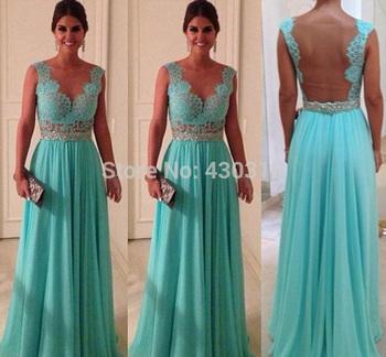 Бесплатная доставка Customzied доступны красочные шифон с поясом и бусины ну вечеринку платье элегантный длинное вечернее платье 2014 KB14015