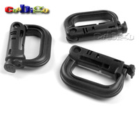 100pcs GRIMLOC ARMY LOCKING D-Ring Multi-use Safety Buckle Plastic For  Backpack Clasp Keychain Bag Outdoor Activity #FLC163-B