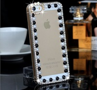 5pcs/lot   Newest Bowknot Pearl Diamond Case for  iPhone 4/4s