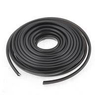 9.5mm Wide 6M Long Black Car Soft Plastic Door Bumper Moulding Trim Strip