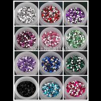 12 colors 6mm 5000pcs 3D Acrylic Flatback Rhinestone ss28 Scrapbook Nail Gems for DIY decoration(12 colors you pick color)