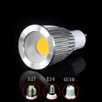 Free shipping 5X High power 85-265V dimmable 9W GU10 COB LED lamp light  Spotlight White/Warm white lighting