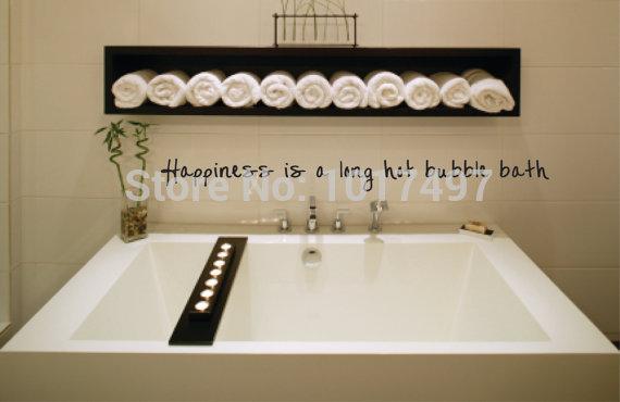 Badkamer Keuken Bolsward ~ badkamer kunst aan de muur decor geluk is een lange warm bubbelbad